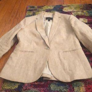 Linen one button blazer